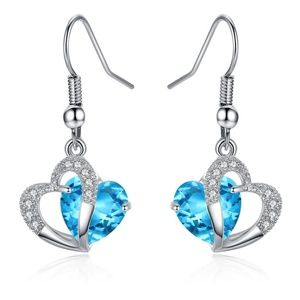Mimeng Sterling Silver Earrings with Cystal